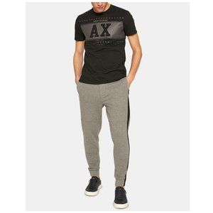 Armani Exchange Grey Black Stripe Joggers Small